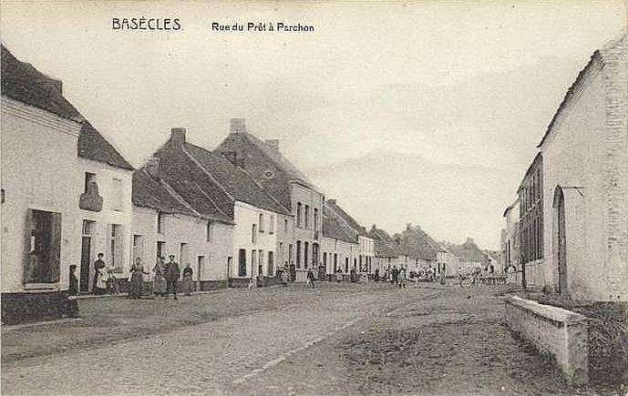 BASÈCLES 1913 - Rue du Prêt à Parchon