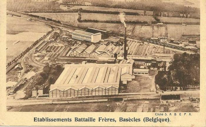Vue aérienne des Ets Battaille