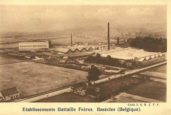 Vue aérienne des Ets Battaille (avant 1933)