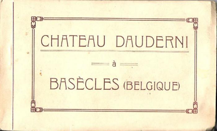 Château Dauderni  Couverture du carnet