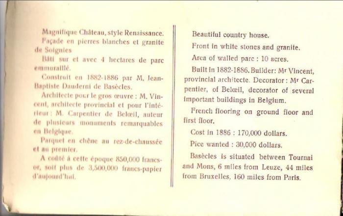 Château Dauderni  Verso de couverture
