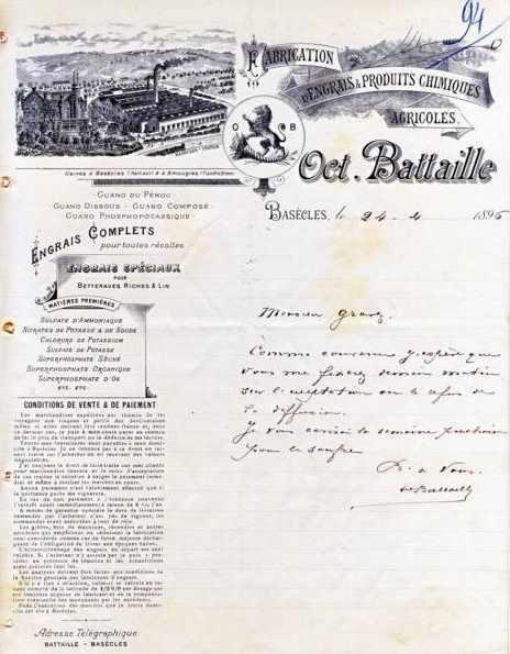 Engrais O.Battaille 1896