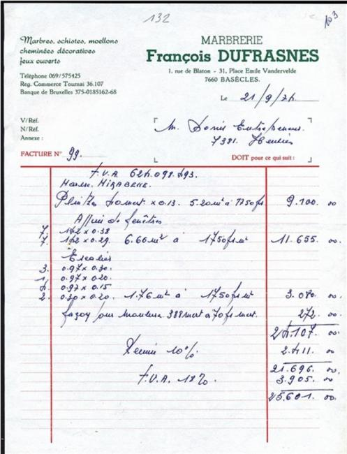 Marbrerie François Dufrasnes